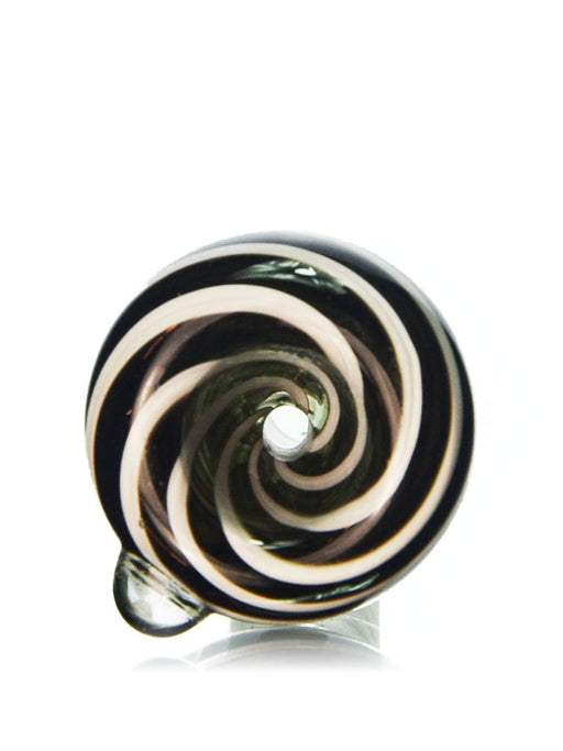 14mm Black And White Swirl Bowl Piece