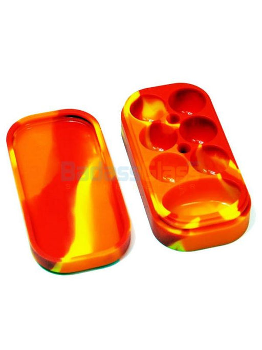 Block Wax Container Red/orange