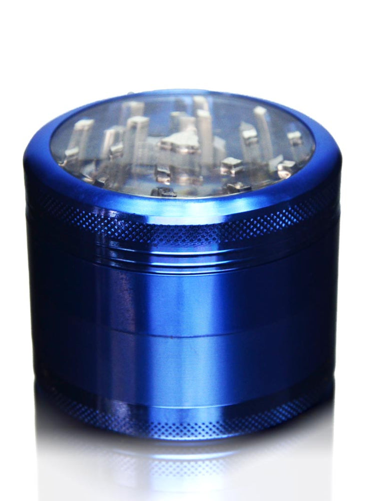 Blue Clear Top Grinder - 4 Piece