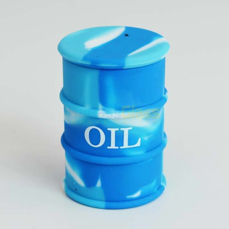 Blue Oil Drum Wax Container