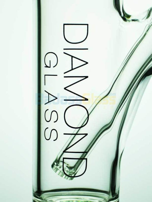 Clear Circ Straight Shot Waterpipe By Diamond Glass