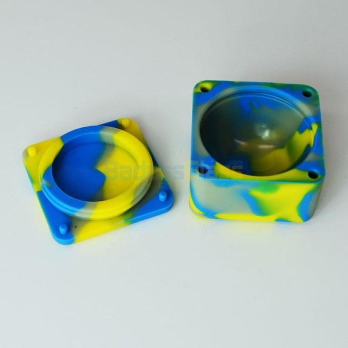 Cube Wax Container Blue/yellow