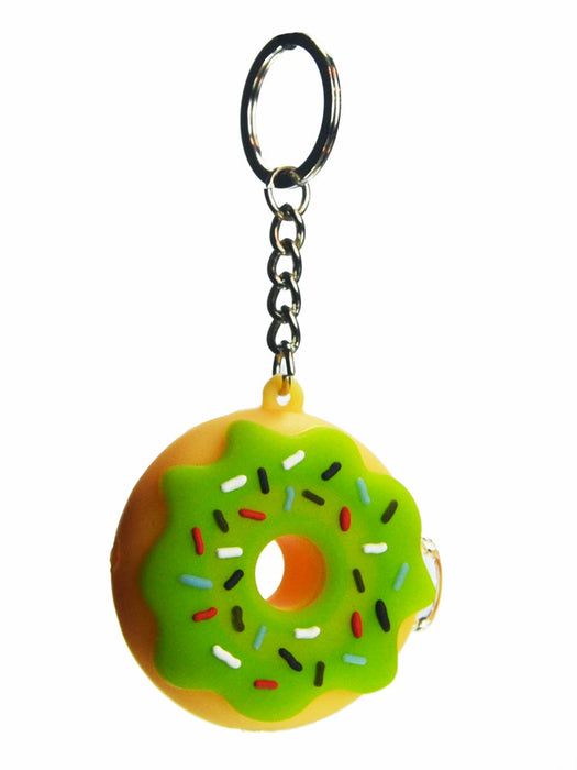 Silicone Donut Pipe Keychain