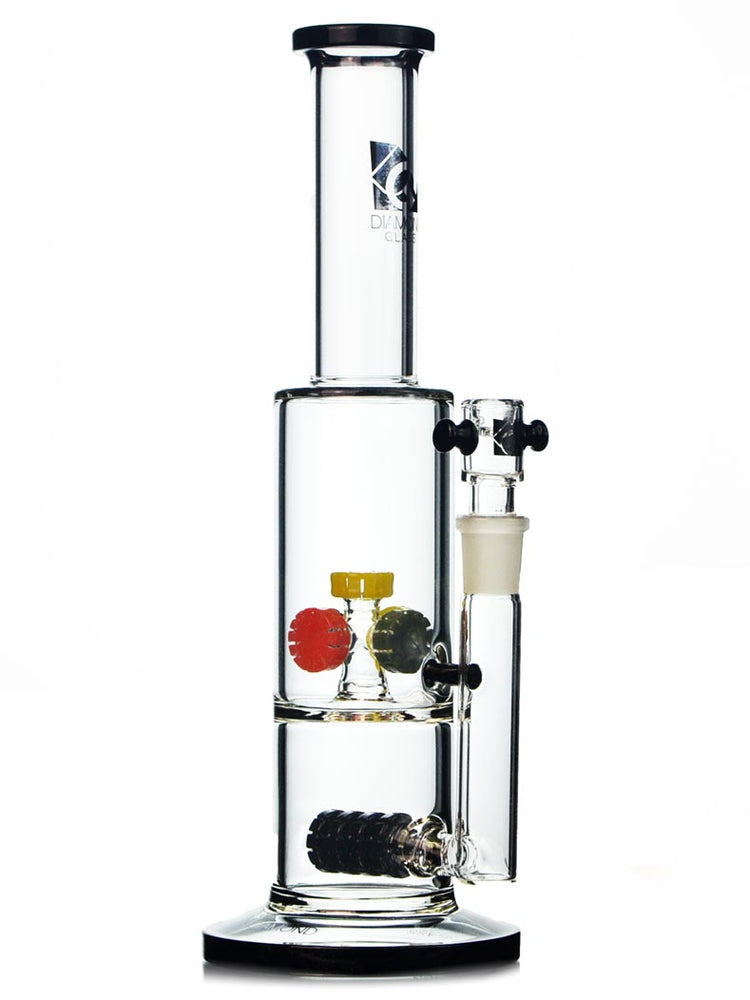 Double Gears Waterpipe By Diamond Glass