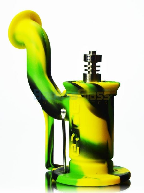 Eyce Silicone Dab Rig - Green, Black, Yellow