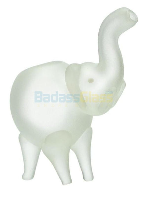 Frosted Glass Elephant Pipe