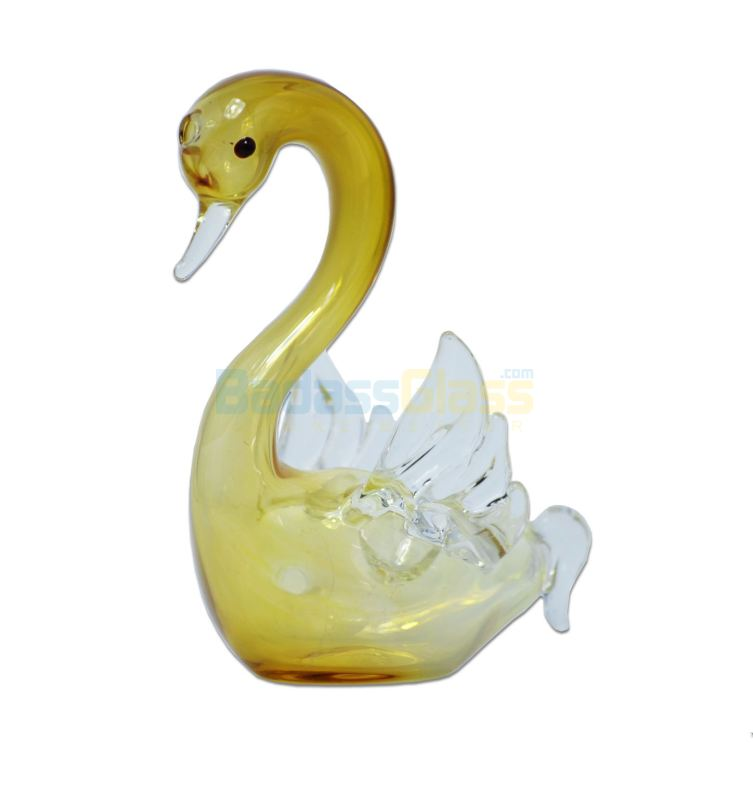 Glass Swan Pipe