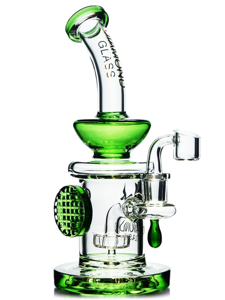 Emerald Green Dab Rig by Diamond Glass