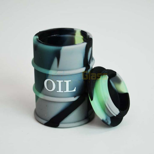 Grey & Black Oil Drum Wax Container