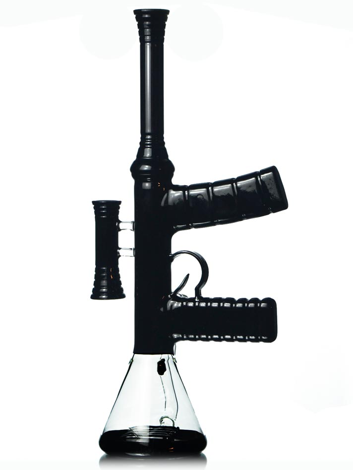 Glass Machine Gun Bong Assault Rifle