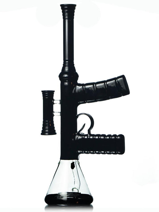 Glass Machine Gun Bong Assault Rifle Beaker