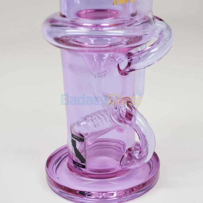 Purple Klein Recycler Waterpipe By Maverick Glass