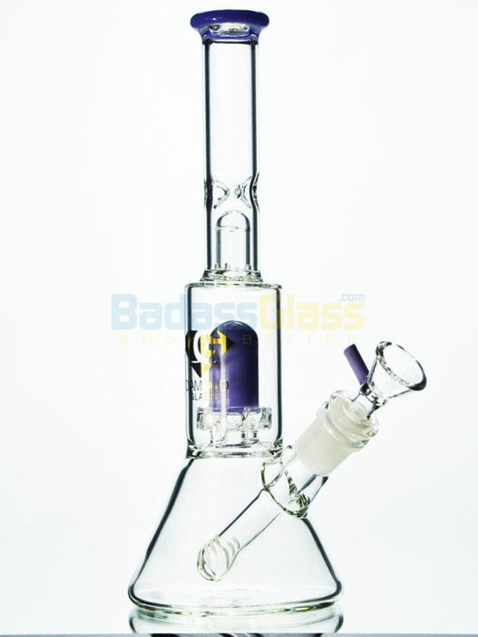 Purple Percolator Bong by Diamond Glass