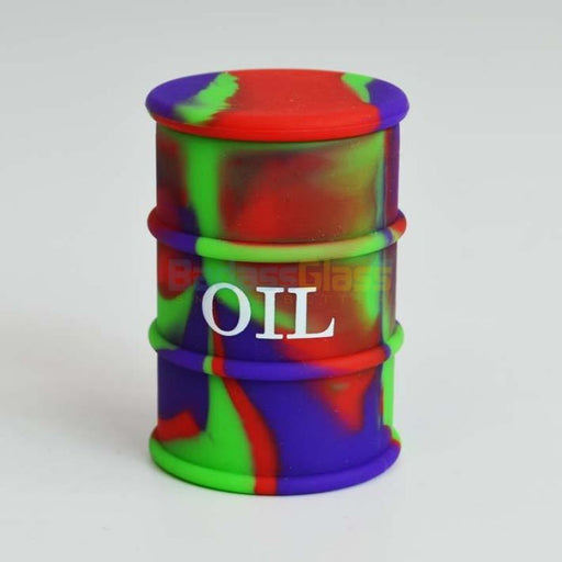 Purple & Red Oil Drum Wax Container