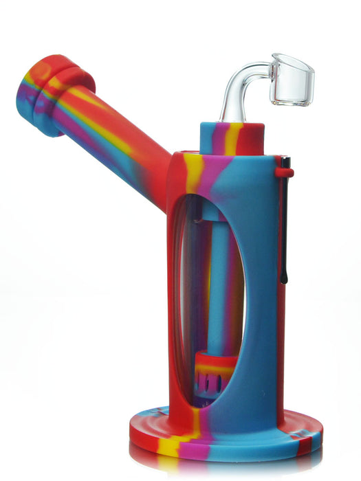 Silicone Glass Dab Bubbler