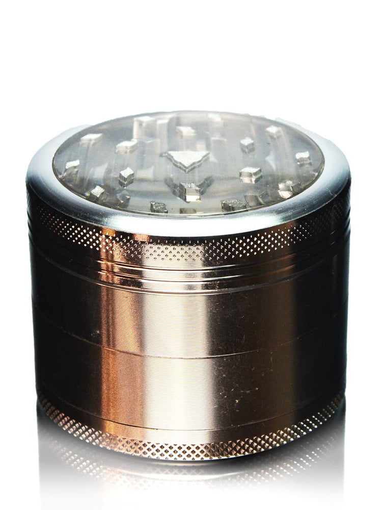 4-Piece SuperCut Window Herb Grinder - Silver