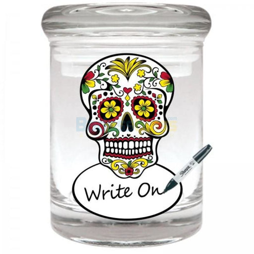 Skull Rewritable Jar for 1/8 oz