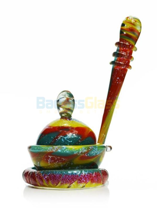 Sparkly Sunburst Dish And Dabber Set By Empire