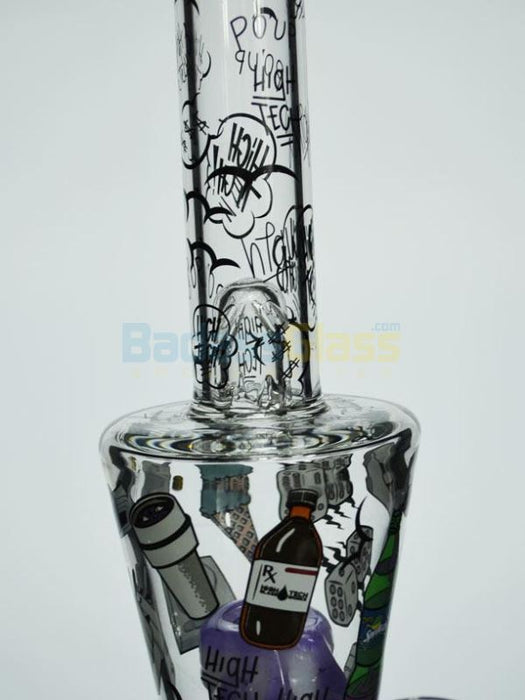 Trap Tube 2.0 Double Perc by High Tech Glass Works