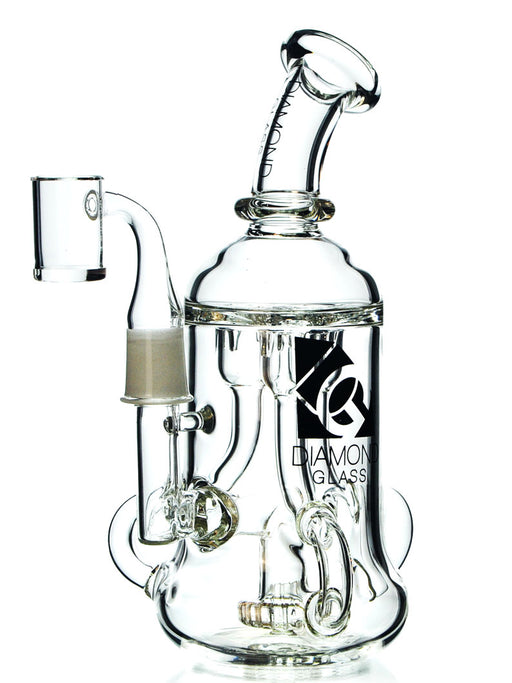 Triple Incycler Dab Rig by Diamond Glass