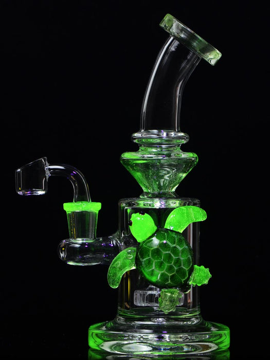 UV Turtle Dab Rig by SWERV Glass