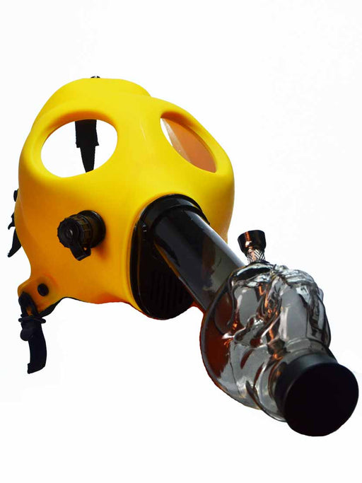 Yellow Gas Mask Bong