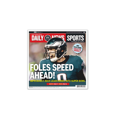 Foles Speed Ahead Unframed Print