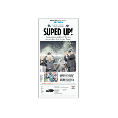 """Suped Up!"", Unframed Inquirer Reprint"