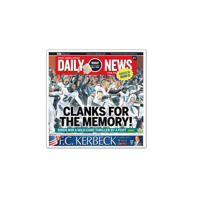 Clanks for the Memory! Daily News Sports Page Unframed Print