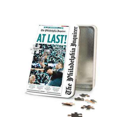 """At Last!"" Inquirer Philadelphia Eagles Super Bowl - Puzzle Tin"