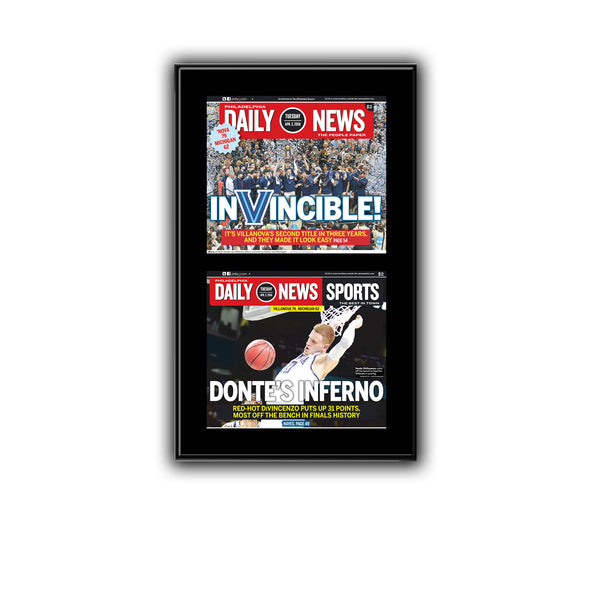 """InVincible"" Villanova Double Plaque from the Daily News"