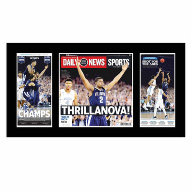 Villanova Basketball 2016 Inquirer and Daily News Triple Plaque