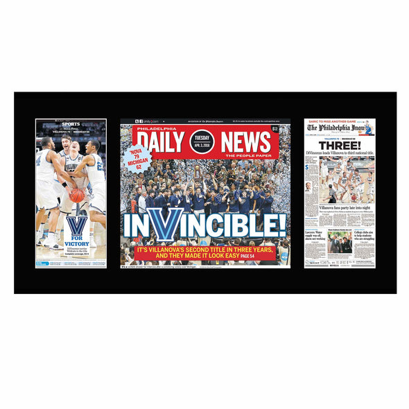 Villanova Basketball 2018 Inquirer and Daily News Triple Plaque
