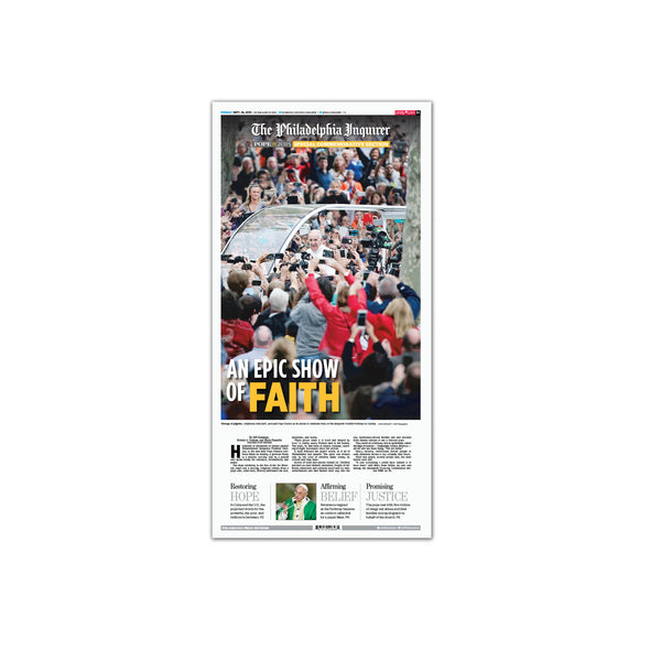 2015 Pope Visit Commemorative Page - Epic Show of Faith Unframed Print