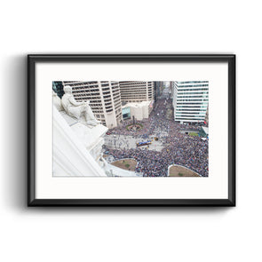 2016 Villanova NCAA Champs Parade Framed Print with Mat