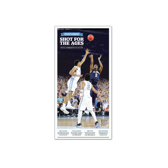 "2016 Villanova NCAA Champs Commemorative Page - ""Shot for the Ages"", Unframed Print"