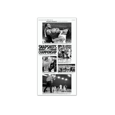 "2016 Villanova NCAA Champs Commemorative Page - ""Snapshots"" Unframed"
