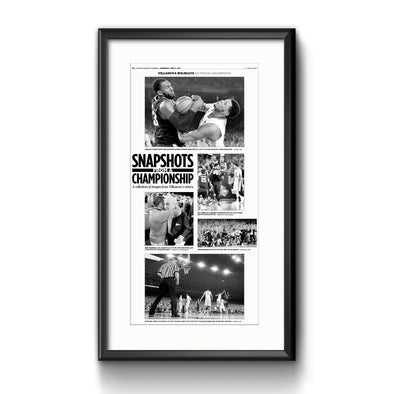 2016 Villanova NCAA Champs Commemorative Page - Snapshots Framed with Matte