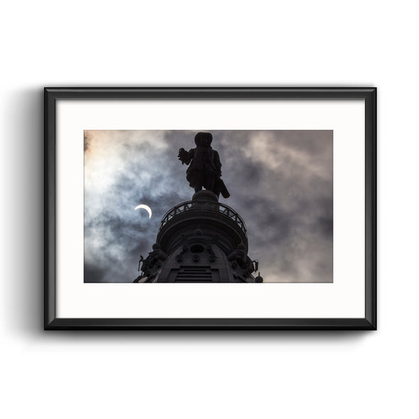 2017 Solar Eclipse Framed Print with Mat