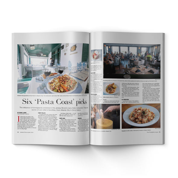 2019 Shore Guide inside pages about pasta