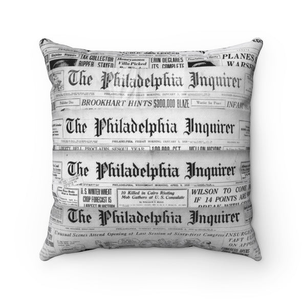 Philadelphia Inquirer Newspaper Pillow