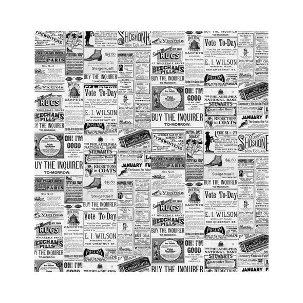 Vintage Inquirer Ad Collage Duvet Cover Design