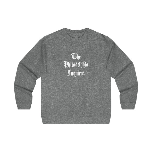 Gunmetal Heather 1862 Crewneck Sweatshirt with white masthead on front
