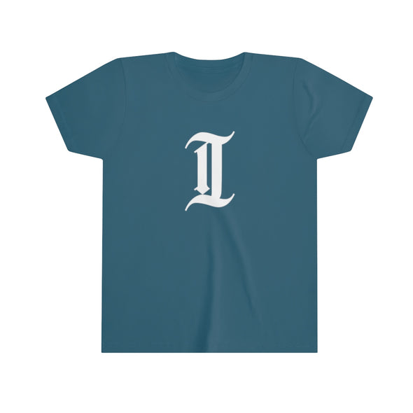 "inquirer classic ""i"" kids youth t-shirt navy"