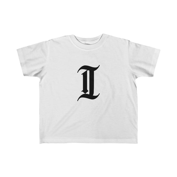 "inquirer classic ""i"" toddler t shirt white front"