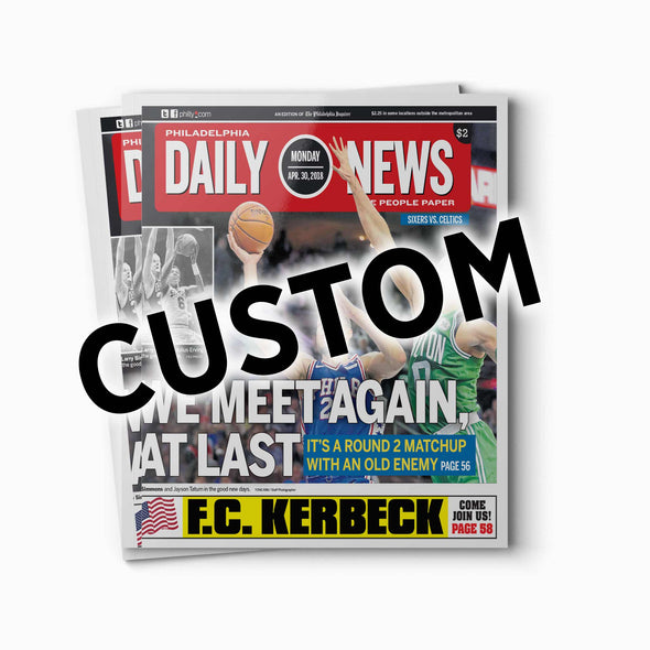Custom Back Issue - Daily News