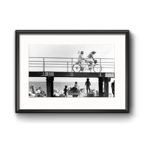 Biking Down The Shore, Framed Print with Mat by Ron Tarver