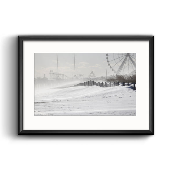 2018 Bomb Cyclone Framed Print with Mat, Jersey Shore by Elizabeth Robertson