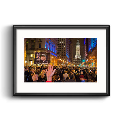 Broad Street Celebration Framed Print with Mat