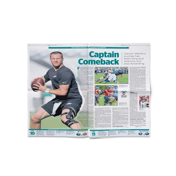 "Philadelphia Eagles ""Hungry for Seconds"" Back Issue Inquirer September 5, 2018 - Preview Section Inside"